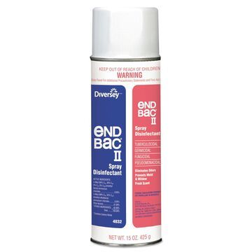 Diversey End Bac II Spray Disinfectant Unscented 15 oz Aerosol 12/Carton 04832