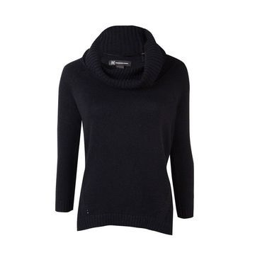 INC International Concepts Women's Cowl 3/4 Sleeves Sweater