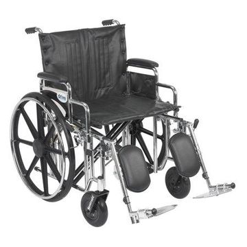 Drive Medical Sentra Extra Heavy Duty Wheelchair, Detachable Desk Arms, Elevating Leg Rests, 22