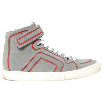 Pierre Hardy Grey Suede Trainers