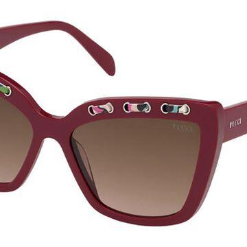 Emilio Pucci EP0101 69F Womenas Sunglasses Red Size 59