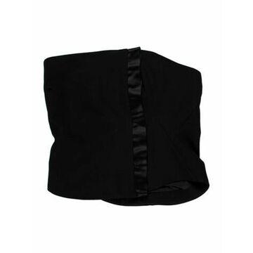Vintage Corset Crop Top Black