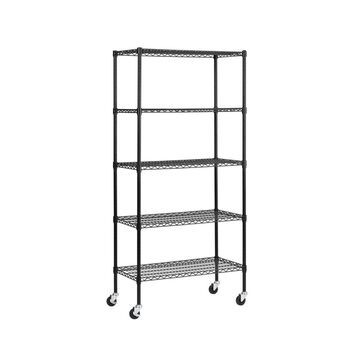 Black Wire Mobile Shelving