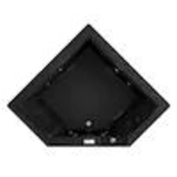 Jacuzzi Fuzion 65.75-in Black Acrylic Corner Front Center Drain Drop-In Whirlpool Bathtub