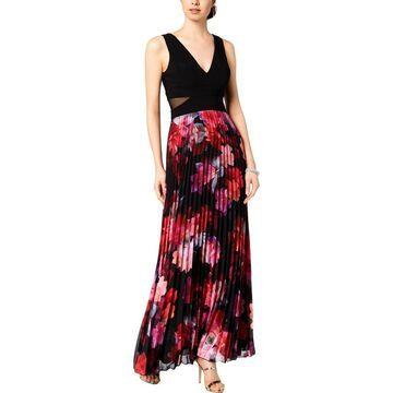 Xscape Womens Formal Dress Mesh Pleated