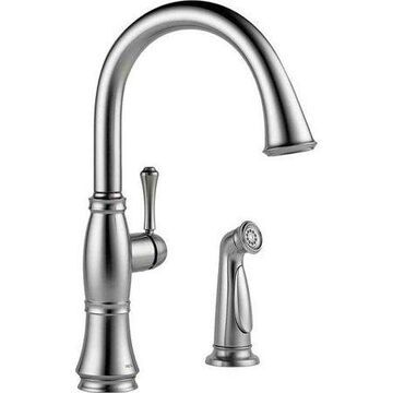 Delta Cassidy Single Handle Kitchen Faucet with Spray, Arctic Stainless