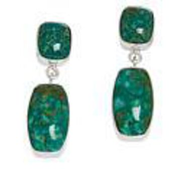 Mine Finds by Jay King Sterling Silver Alicia Turquoise Drop Earrings