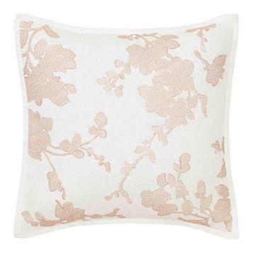 Laura Ashley Lorene Embroidered Throw Pillow