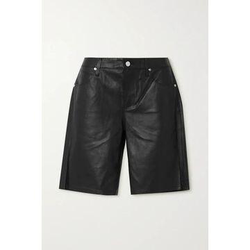 RtA - Jami Leather Shorts - Black