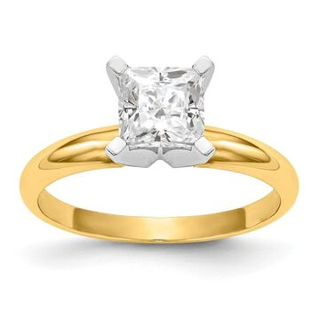 Moissanite 14K Yellow Gold 1.0ct. 5.5mm Princess Cut Solitaire Ring by Versil