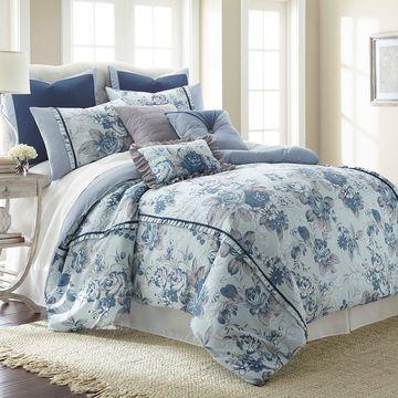 Pacific Coast Textiles Floral Farmhouse 8-piece Comforter Set
