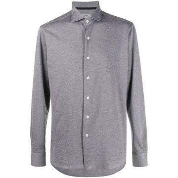spread collar pique shirt