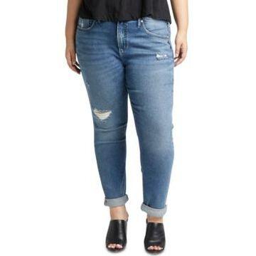 Silver Jeans Co. Trendy Plus Size Not-Your-Boyfriend Jeans