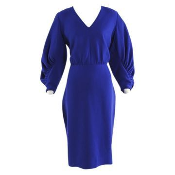Lela Rose Blue Wool Dresses