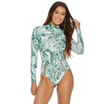 Rip Curl Palm Reader Surf Long Sleeve One Piece Swimsuit