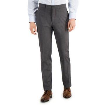Kenneth Cole Reaction Men's Techni-Cole Light-Gray Suit Separate Slim-Fit Pants