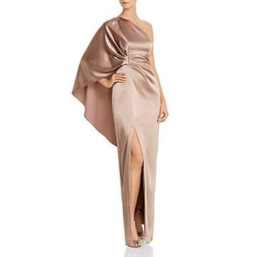 Aidan Mattox One-Shoulder Caped Gown - 100% Exclusive