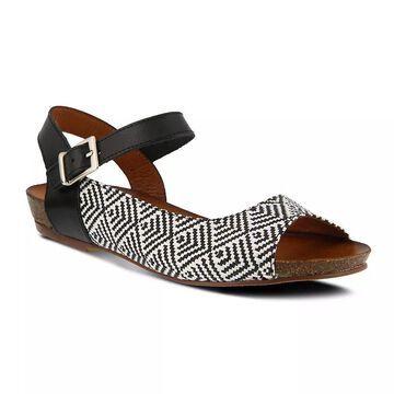Spring Step Asimona Women's Wedge Sandals, Size: 39, Black