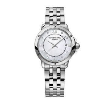 Stainless Steel Tango Watch with Diamond Accents