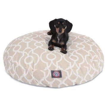 Majestic Pet Athens Round Dog Bed Treated Polyester Removable Cover Sand Small 30 x 30 x 4