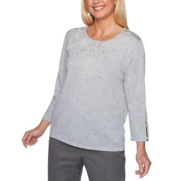 Alfred Dunner Sapphire Skies Pearlized-Bead Sweater