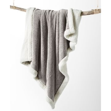 Solid Reversible Sherpa Throw, Created for Macy's
