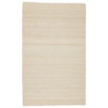 Quito Natural Solid White Jute Indoor Rectangular Area Rug (9' x 12') - 8'10
