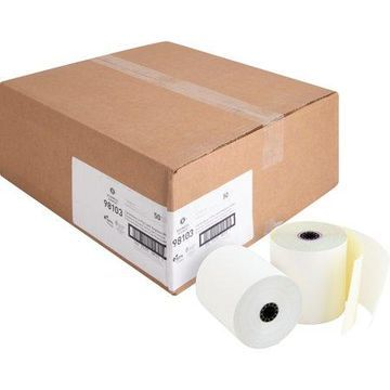 Business Source, BSN98103, 2-part Carbonless Cash Register Rolls, 50 / Carton, White