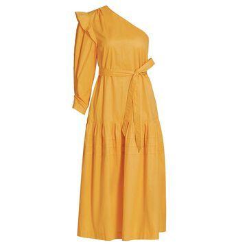 Derek Lam 10 Crosby Finley One-Shoulder Midi Dress