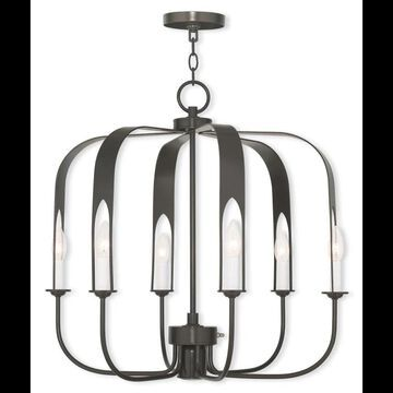 Livex Lighting 51936 Addison 7 Light 1 Tier Chandelier English Bronze Indoor Lighting Chandeliers