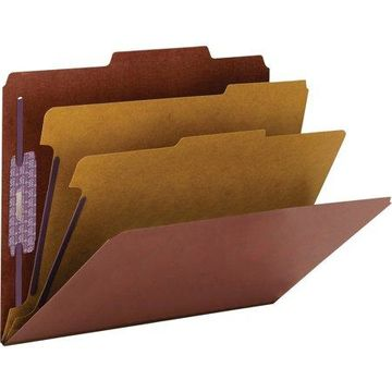 Smead, SMD14205, SafeSHIELD Fastener PressGuard Letter Folders, 10 / Box, Red