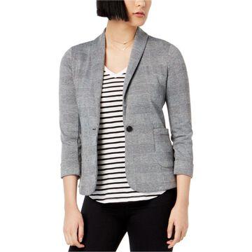 maison Jules Womens Casual One Button Blazer Jacket