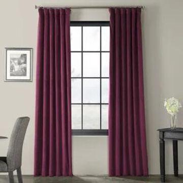 Exclusive Fabrics Signature Blackout Velvet Curtain (50 x 120 - Cabernet)
