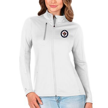 Winnipeg Jets Antigua Women's Generation Full-Zip Pullover Jacket - White/Silver