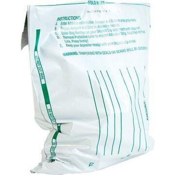 Quality Park Night Deposit Bags, White, 100 / Pack (Quantity)