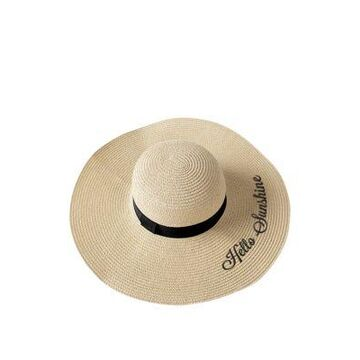 Cathy's Concepts Hello Sunshine Natural Straw Sun Hat -