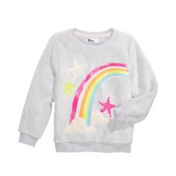 Epic Threads Toddler Girls Rainbow Sweatshirt, Created For Macy's