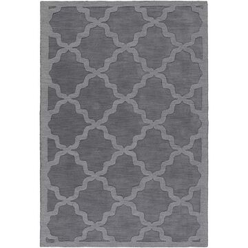 Artistic Weavers Central Park Abbey 6' X 9' Handcrafted Area Rug In Charcoal Grey