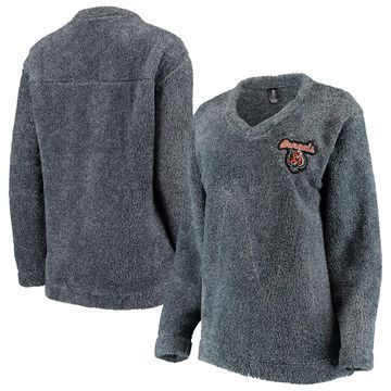 Cincinnati Bengals Concepts Sport Women's Trifecta Pullover Sweatshirt Charcoal