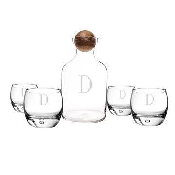 Cathy's Concepts 5-pc. Monogram Scotch Decanter Set, Multicolor, SETS