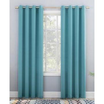 "Sun Zero Grant Room Darkening Grommet Curtain Panel, 95"" L x 54"" W"