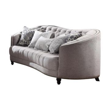 ACME FURNITURE Saira Vintage Light Gray Fabric Sofa   52060
