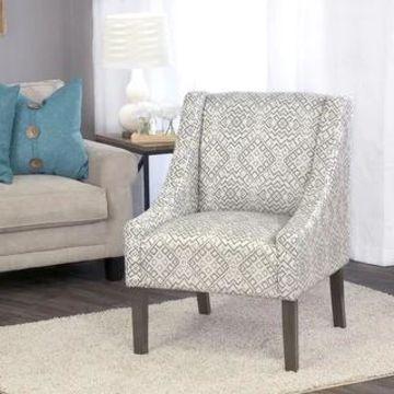 HomePop Swoop Accent Chair in Tonal Gray (Grey)