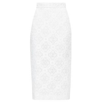 Alexander Mcqueen - High-rise Lace Pencil Skirt - Womens - White