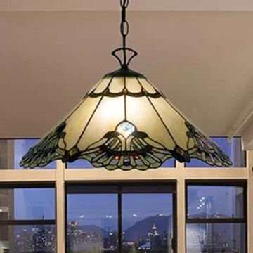 Tiffany-style Warehouse of Tiffany Courtesan 16-inch Hanging Lamp