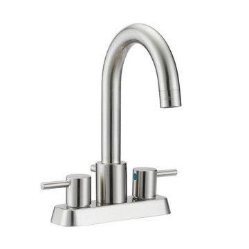 Design House 548263 Eastport Centerset Bathroom Faucet, Satin Nickel