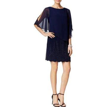 Xscape Womens Embellished Chiffon Clubwear Dress