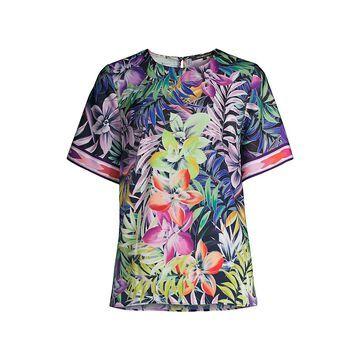 Kobi Halperin Cara Floral Print Short-Sleeve Top