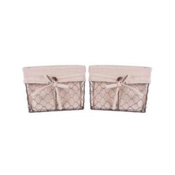 Design Imports Medium Bronze Chicken Wire Liner Basket Set of 2