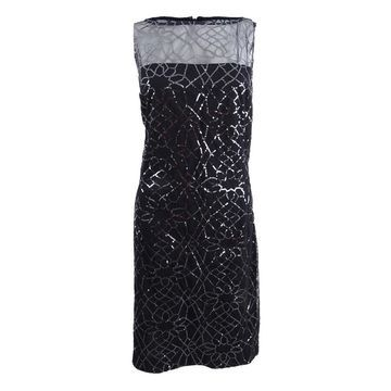 American Living Women's Sleeveless Sequined Dress (18, Black/Gunmetal) - Black/Gunmetal - 18